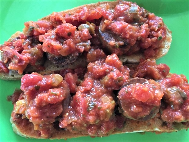 Crime in Italy Irish-infused Saucy Topping on Ciabatta